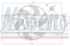 Větrák, chlazení motoru NISSENS 85253