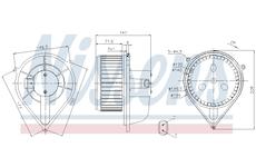 vnitřní ventilátor NISSENS 87128