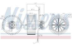vnitřní ventilátor NISSENS 87402