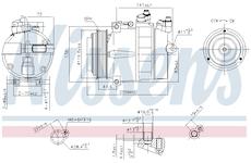 Kompresor, klimatizace NISSENS 89022