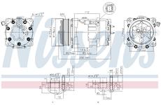 Kompresor, klimatizace NISSENS 89032