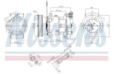Kompresor, klimatizace NISSENS 89064