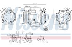 Kompresor, klimatizace NISSENS 89076