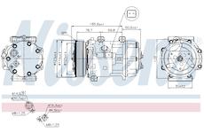 Kompresor, klimatizace NISSENS 89136