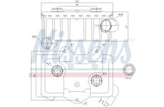 Olejový chladič, motorový olej NISSENS 90582