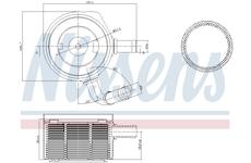 Olejový chladič, motorový olej NISSENS 90669