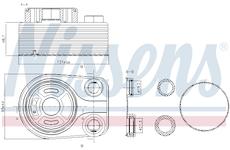 Olejový chladič, motorový olej NISSENS 90705