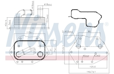 Olejový chladič, motorový olej NISSENS 90808
