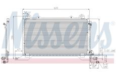 Kondenzátor, klimatizace NISSENS 94425