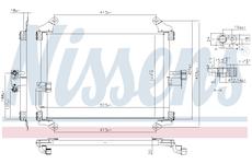 Kondenzátor, klimatizace NISSENS 94700
