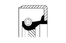Tesnici krouzek hridele, pomocny pohon CORTECO 12011464B