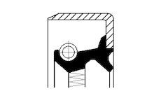 Tesnici krouzek hridele, naboj kola CORTECO 01019283B