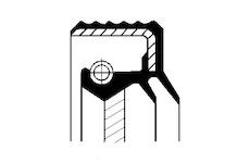 Tesnici krouzek hridele, diferencial CORTECO 07011906B