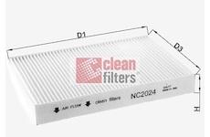 Filtr, vzduch v interiéru CLEAN FILTERS NC2024