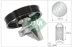 Vratna/vodici kladka, klinovy zebrovy remen INA 532 0354 10