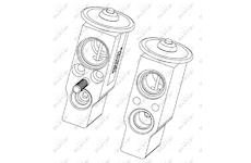 Expanzní ventil, klimatizace NRF 38406