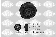 Vratna/vodici kladka, klinovy zebrovy remen SASIC 1626143