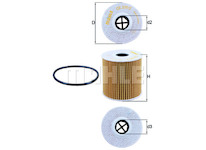 Olejový filtr MAHLE ORIGINAL OX 339/2D