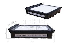 Filtr, vzduch v interiéru MAHLE ORIGINAL LA 19