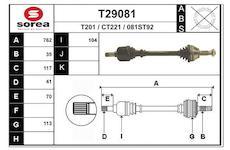Hnací hřídel EAI T29081
