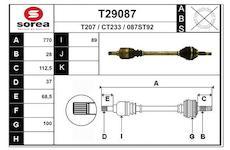 Hnací hřídel EAI T29087