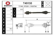 Hnací hřídel EAI T49150