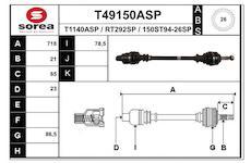 Hnací hřídel EAI T49150ASP