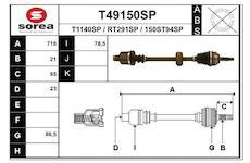 Hnací hřídel EAI T49150SP