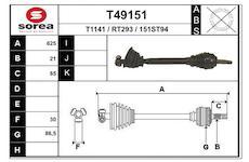 Hnací hřídel EAI T49151