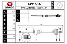 Hnací hřídel EAI T49156A