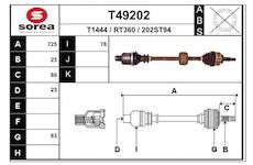 Hnací hřídel EAI T49202