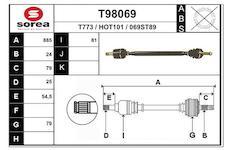 Hnací hřídel EAI T98069