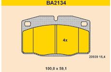Sada brzdových destiček, kotoučová brzda BARUM BA2134