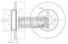 Brzdový kotouč MAXGEAR 19-0681