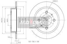 Brzdový kotouč MAXGEAR 19-0957