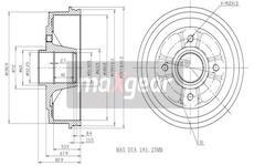 Brzdový buben MAXGEAR 19-1030