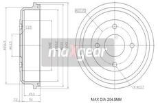 Brzdový buben MAXGEAR 19-1036