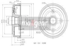 Brzdový buben MAXGEAR 19-1049