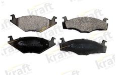 Sada brzdových destiček, kotoučová brzda KRAFT AUTOMOTIVE 6000040